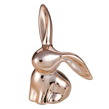 PLATINE Copper Porcelain Rabbit Figurine  (7 x 4cm)