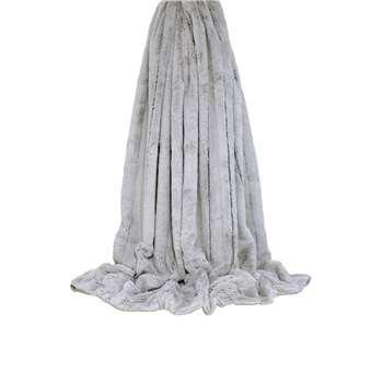 Plush throw grey (130 x 180cm)