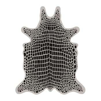 PODEVACHE - Croco Collection Vinyl Floor Mat - Grey/Black - Large (H159 x W126cm)