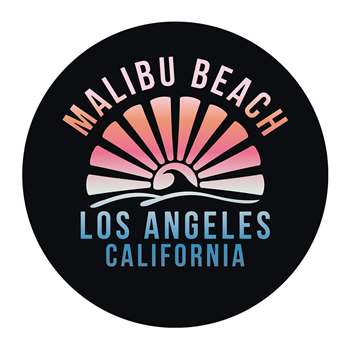 PODEVACHE - Malibu Beach Round Vinyl Floor Mat (Diameter 99cm)