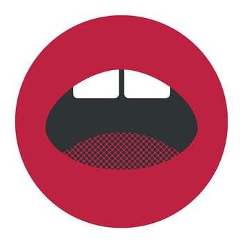 PODEVACHE - Mouth Round Vinyl Floor Mat (Diameter 99cm)