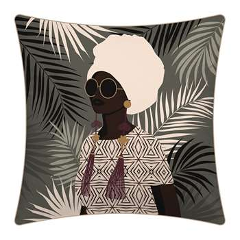 PODEVACHE - Sunset Woman Outdoor Cushion (H45 x W45cm)