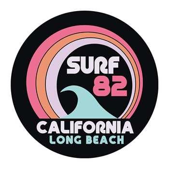 PODEVACHE - Surf 82 Round Vinyl Floor Mat (Diameter 99cm)