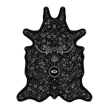 PODEVACHE - Tattoo Vinyl Floor Mat - Black - Medium (H113 x W90cm)