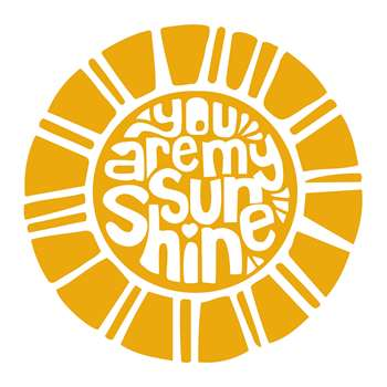 PODEVACHE - You Are My Sunshine Round Vinyl Floor Mat - Yellow (Diameter 99cm)
