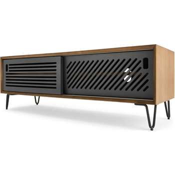Pointillee Media Unit, Walnut and Grey (H43 x W130 x D40cm)