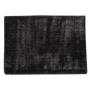 POLAIRE long pile rug in charcoal grey (160 x 230cm)