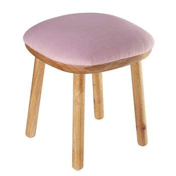 POLAIRE pink fabric stool (47 x 40cm)