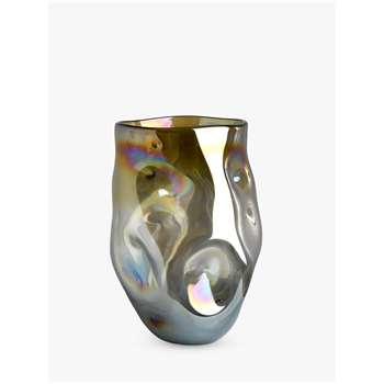 Pols Potten Amber Collision Vase, Large (H20 x W22 x D22cm)