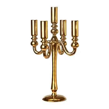 Pols Potten - Antique Gold Candle Holder - Multiple (H36.5 x W16 x D16cm)