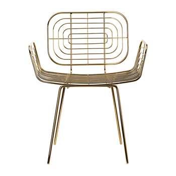Pols Potten - Boston Chair - Gold (H83 x W66 x D50cm)