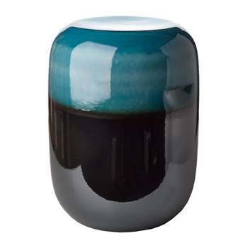 Pols Potten - Ceramic Pill Stool - Blue Bronze Gradient (H44 x W33.5 x D33.5cm)