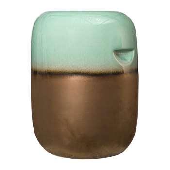 Pols Potten - Ceramic Pill Stool - Green Bronze Gradient (H44 x W33.5 x D33.5cm)
