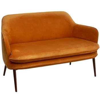Pols Potten - Charmy Velvet Sofa - Gold (H78 x W128.5 x D72cm)