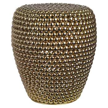 Pols Potten - Dot Stool - Brass (H46 x W40 x D40cm)