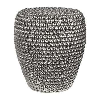 Pols Potten - Dot Stool - Silver (H46 x W40 x D40cm)