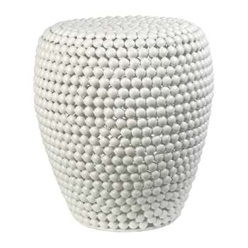 Pols Potten - Dot Stool - White (H46 x W40 x D40cm)