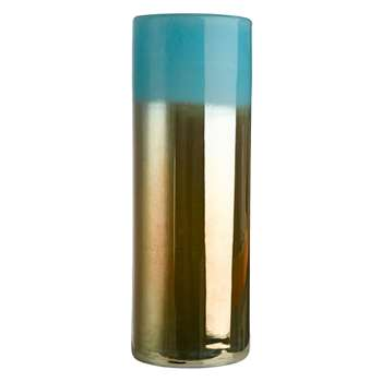 Pols Potten - High Horizon Vase - Aqua/Gold (50 x 18cm)