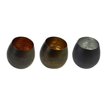 Pols Potten - Iron Votives - Set of 3 - Multi (H10 x W10 x D10cm)