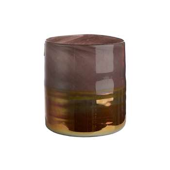 Pols Potten - Low Horizon Vase - Lilac/Copper (21 x 20cm)