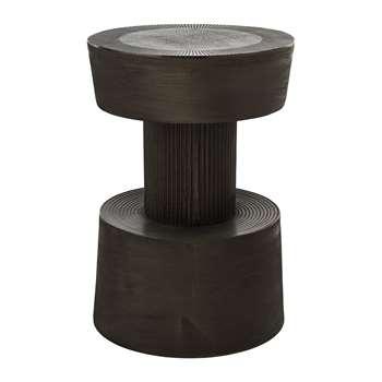 Pols Potten - Nut Stool - Graphite (H51 x W43.5 x D35cm)