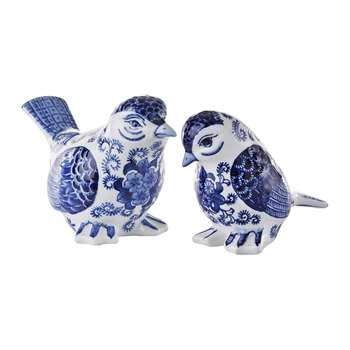 Pols Potten - Porcelain Bird Ornaments - Set of 2 (H13 x W10 x D18cm)