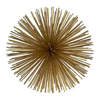 Pols Potten - Prickle Decorative Ornament - Brass - Small (H18 x W18 x D18cm)
