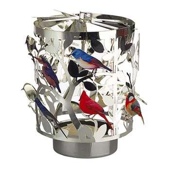 Pols Potten - Waxine Birds Spinning Votive - Small (H11.5 x W8 x D8cm)