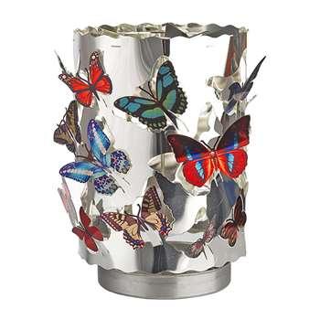 Pols Potten - Waxine Butterflies Spinning Votive - Large (H16.5 x W11 x D11cm)