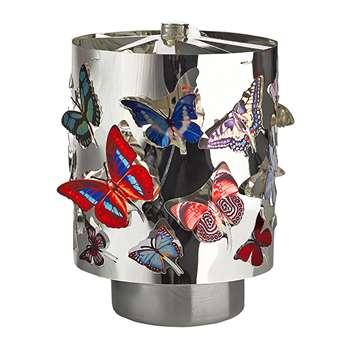 Pols Potten - Waxine Butterflies Spinning Votive - Small (H11.5 x W8 x D8cm)