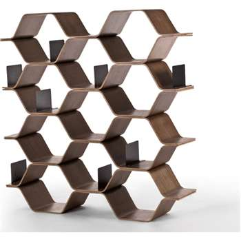 Polygon Shelving Unit, Walnut (150 x 140cm)