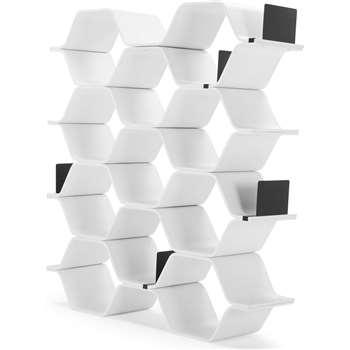 Polygon Shelving Unit, White (150 x 140cm)