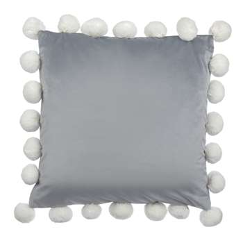 Pom Pom Velvet Steel Cushion (H45 x W45cm)