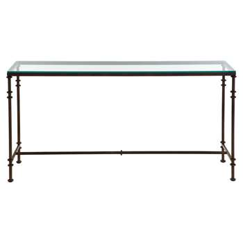 Pompidou Console Table, Large - Metal and Glass (H82 x W161 x D40cm)