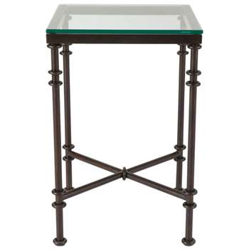 Pompidou Metal and Glass Side Table, Small - Metal (60 x 40cm)