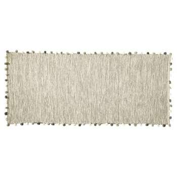 POMPON cotton rug in ecru (80 x 200cm)