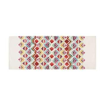 PONDICHERY multicoloured ethnic print rug (80 x 200cm)