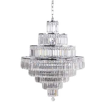 PONTIVY Crystal Drop Bead Chandelier (90 x 66cm)