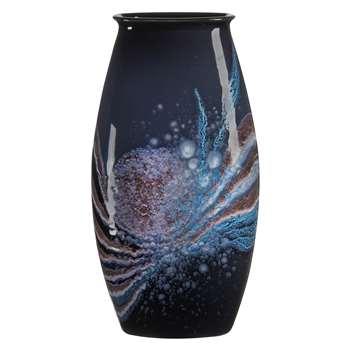 Poole Pottery Celestial Manhattan Vase, H36cm, Grey/ Blue