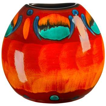 Poole Pottery Volcano Purse Vase, H20cm