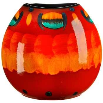 Poole Pottery Volcano Purse Vase, H26cm
