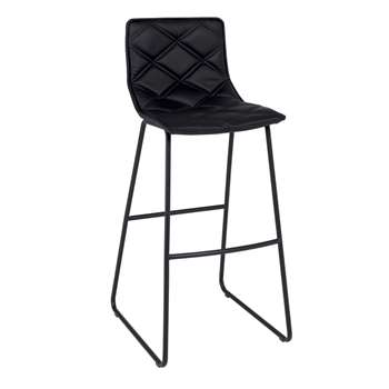 Portela bar stool black (103 x 45cm)