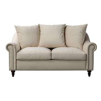 Portman Two Seat Sofa – Ivory (H85 x W159 x D101cm)