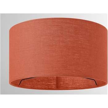 Porto Linen Lamp Shade, Burnt Orange (H16 x W30 x D30cm)