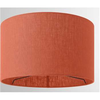 Porto Linen Lamp Shade, Burnt Orange (H24 x W40 x D40cm)