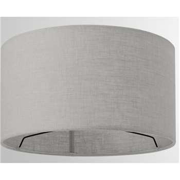 Porto Linen Lamp Shade, Grey (H16 x W30 x D30cm)