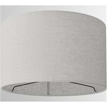 Porto Linen Lamp Shade, Grey (H24 x W40 x D40cm)