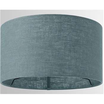 Porto Linen Lamp Shade, Teal (H16 x W30 x D30cm)