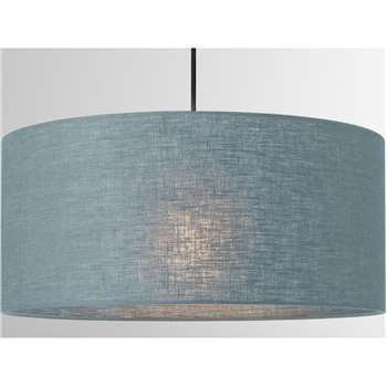 Porto Linen Lamp Shade, Teal (H20 x W45 x D45cm)