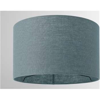 Porto Linen Lamp Shade, Teal (H24 x W40 x D40cm)